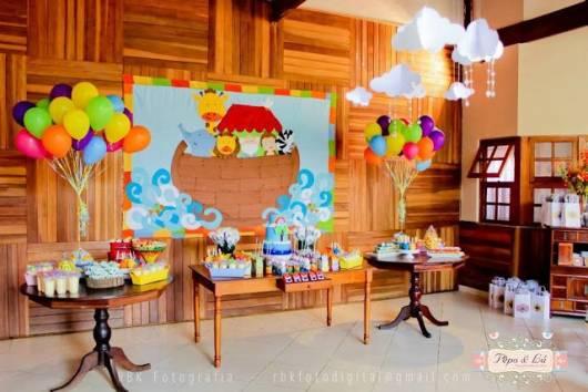 festa colorida bebê