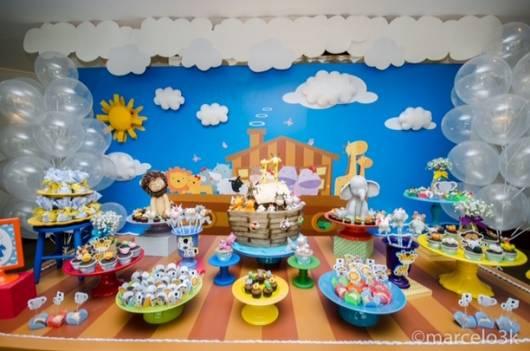festa de bebê tema arca noé