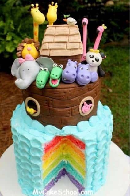 bolo coloridos animais