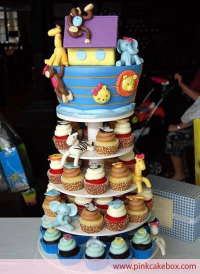 bolo cupcakes festa noé