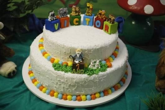 bolo festa bebê animais