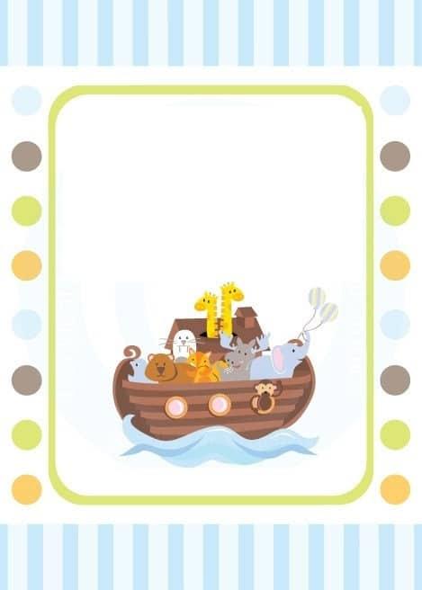 convite festa bebê bíblica