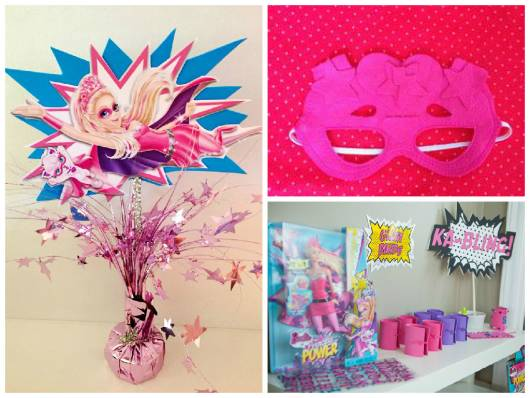 ideias festa super barbie