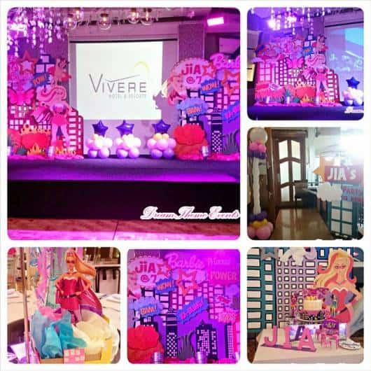 decoração festa barbie super princesa
