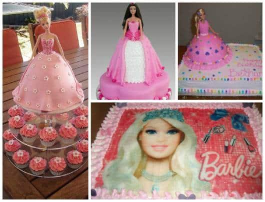 ideias para bolo barbie princesa