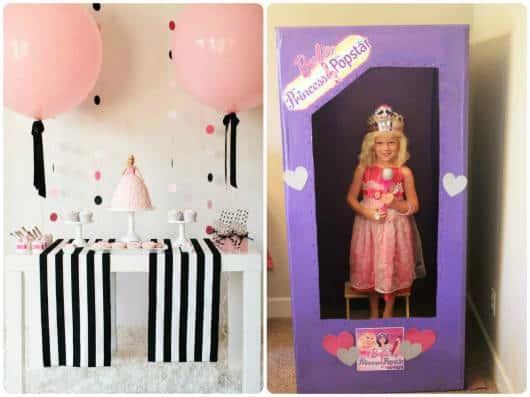 ideias para festa da Barbie princesa