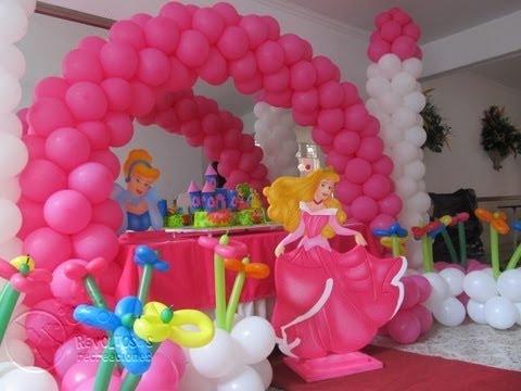 dica de decoração com balões da bela adormecida