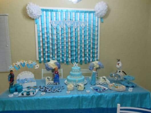 decoração frozen azul