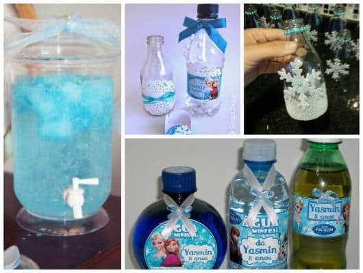 bebidas para festa frozen em casa