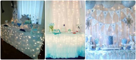 decoração festa com luzinhas