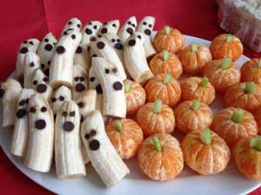 frutas decoradas festa infantil