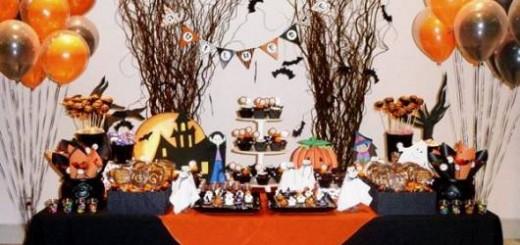 festa laranja e preta dia das bruxas