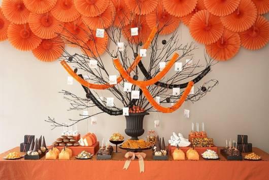 decoração simples halloween