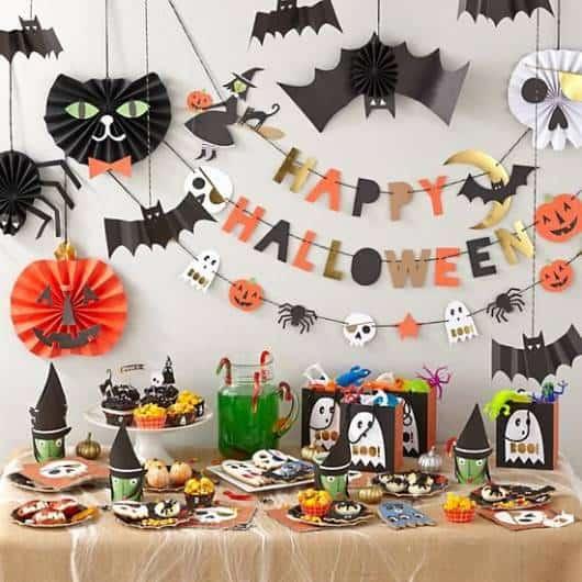 enfeite simples morcegos festa infantil