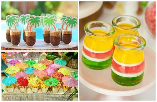 doces para festa havaiana