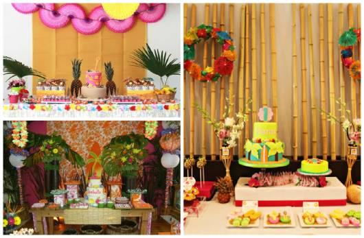decoração festa havaiana infantil