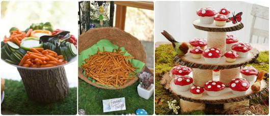 comidas festa floresta
