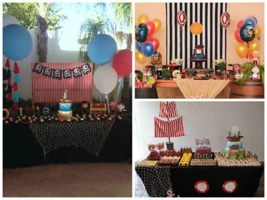 ideias simples festa pirata infantil