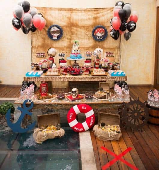 decoração jake e os piratas