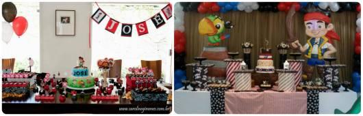 decorações aniversário pirtata e papagaio