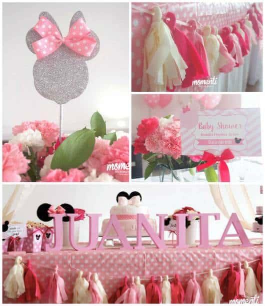 festa minnie baby rosa