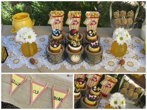 dicas de decoração rústica para festa do ursinho pooh