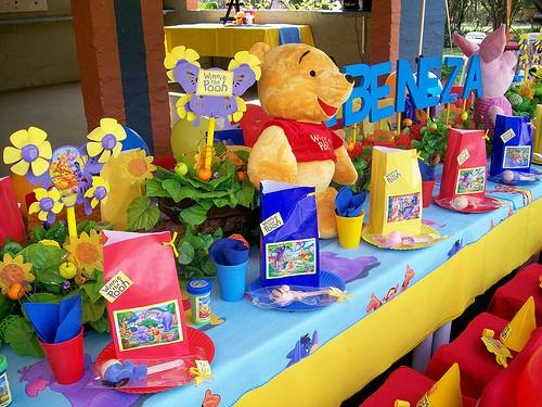 decoração de festa do ursinho pooh