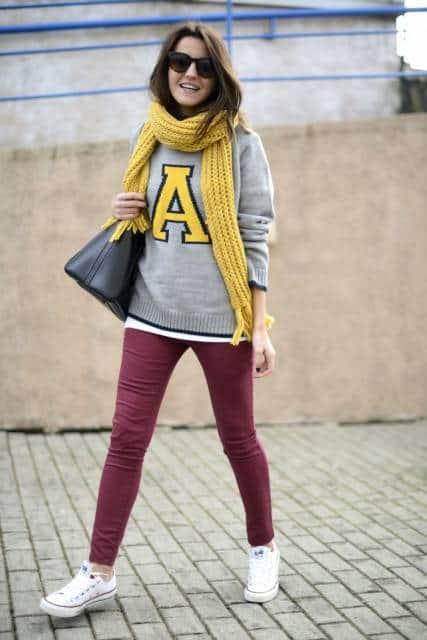 calça colorida como usar