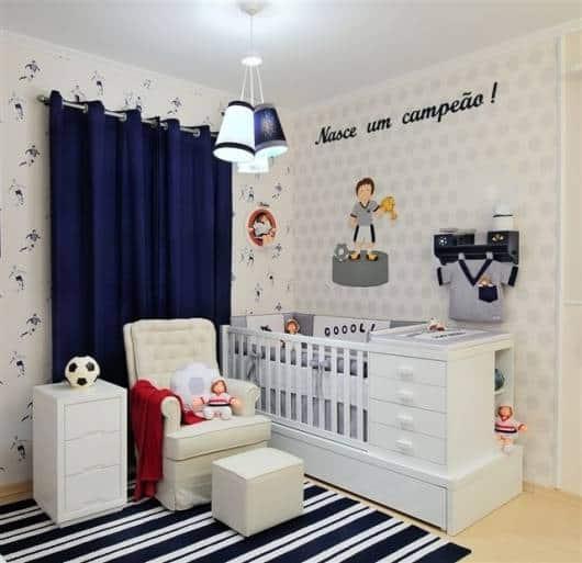 decoração futebol quarto menino