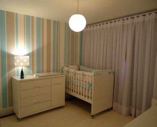 quarto bebê masculino simples