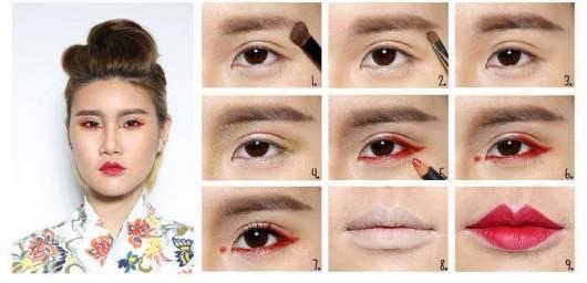como fazer maquiagem gueixa