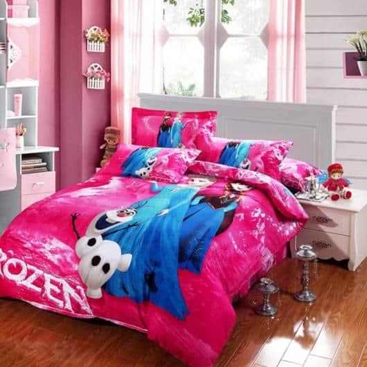 cama rosa pink frozen