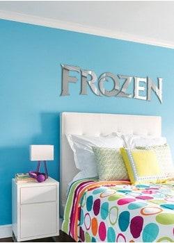 decoração frozen no quarto