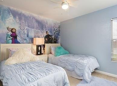 parede decorada filme frozen
