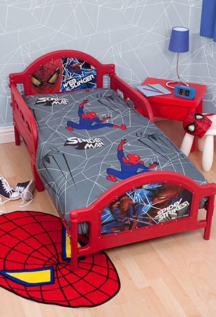 cama infantil homem aranha