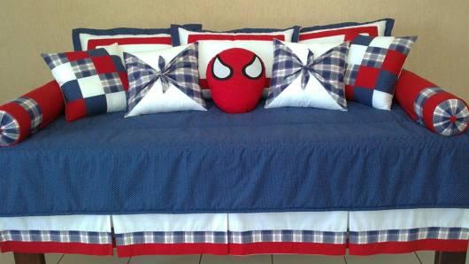 jogo de cama homem aranha