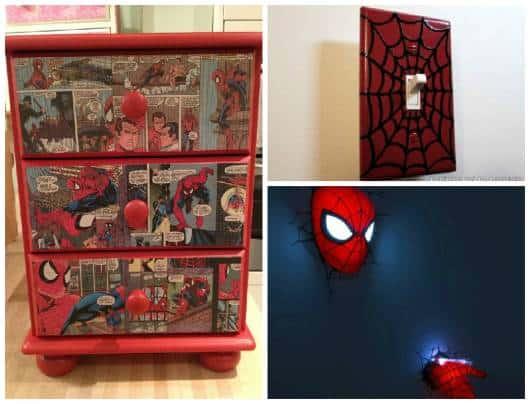 ideias quarto homem aranha