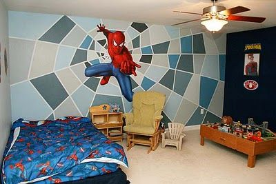 parede pintada homem aranha