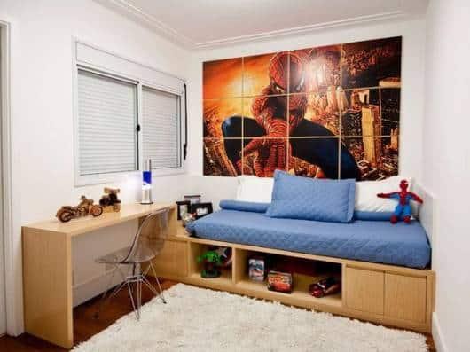 quarto menino decorado herói