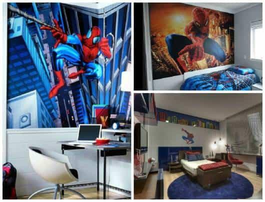 decoração quarto spiderman