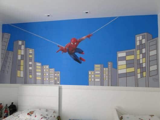 quarto masculino super herói