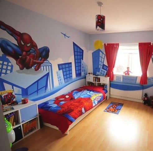 quarto infantil homem aranha