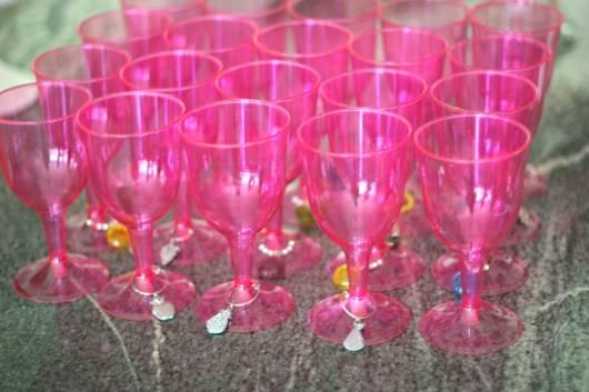 tacinhas rosa para festa bela adormecida