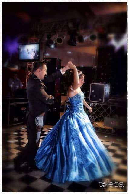 vestido 15 anos azul