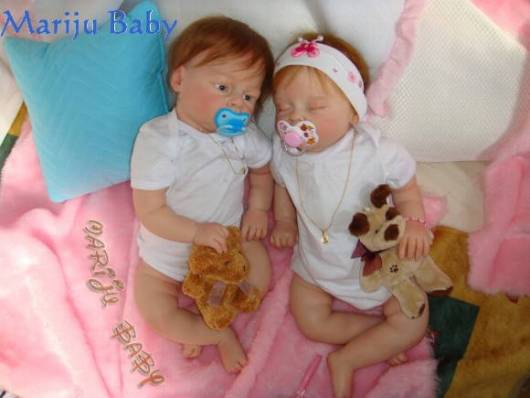 casal gêmeos reborn