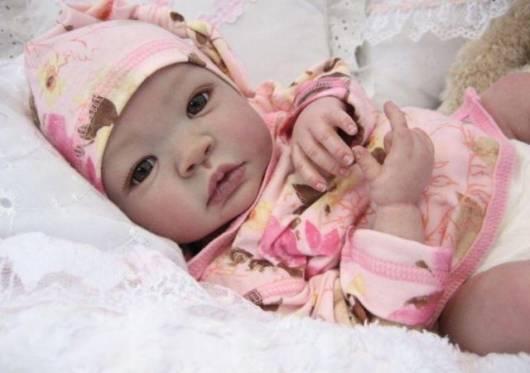 boneca reborn menina roupa rosa