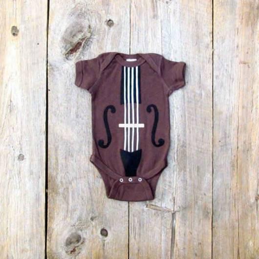 body violino para bebê
