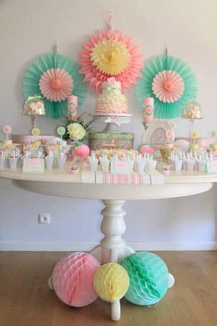 festa em casa aniversário de mês bebê