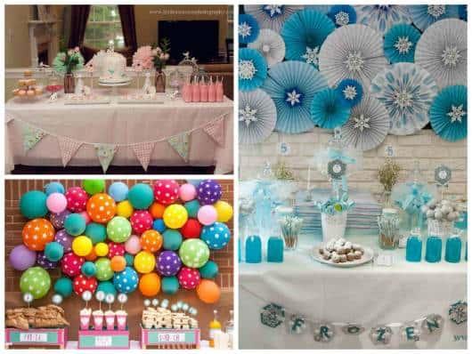 festa pequena aniversário bebê