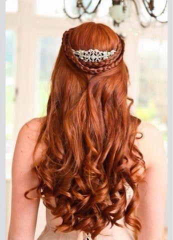 penteado semi preso com tranças